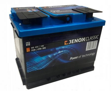 AKUMULATOR 12V-55AH 470A P+ SUPER POWER JENOX